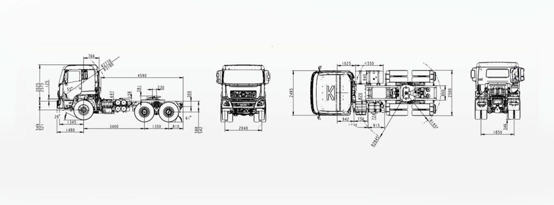 Camion poids lourds tracteur 6*4