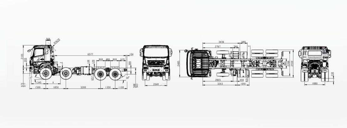 Camion poids lourds DONFENG porteur 8*4